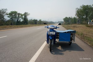 On a highway in Tak province.