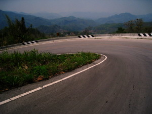 Going downhill between Pai and Mae Hong Son